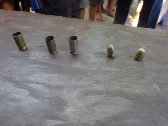 assorted fired cartridge on a table